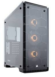 crystal series x rgb atx mid tower case