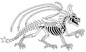 Simple Skeleton Coloring Pages To Print Dinosaur Page Skeletons