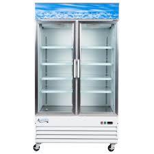 avantco gdc40hc 48 inch white swing glass door merchandiser refrigerator with led glass front refrigerator s94