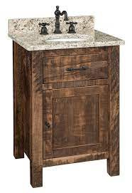 Rustic Bathroom Vanity From Dutchcrafters Amish Furniture