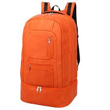 orange tumbled luciano leather luxury bag