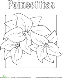 You will need a pdf reader to view these files. Poinsettia Worksheet Education Com