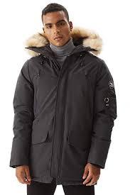 Molemsx Mens Warm Winter Down Jacket Parka Puffer Coat With Hood Faux Fur Trim Xs 3xl
