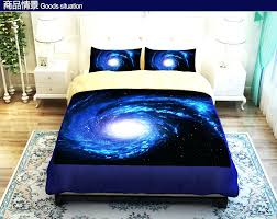 ... Cool Blue Starry Sky Universe Bedding Set Duvet Cover Twin Queen King  Size Fitted Bed Sheet ...