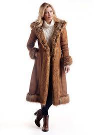 faux suede fur full length coat