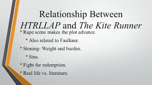 how to literature like a professor presentations cassie relationship between htrllap and the kite runner rape scene makes the plot advance