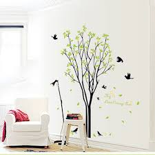 Tree Design Wallpaper Living Room Aliexpresscom Buy Modern Luxury Creative Tree Brid Wallpaper