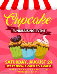 Flyers For Fundraising Events Cupcake Fundraiser Event Flyer Template Postermywall