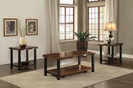 crown mark 4160set 3pc woodgrained coffee table and 2 end tables 3pc woodgrained coffee table