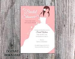 Wonderful Free Bridal Shower Invitation Templates For Word Bridal