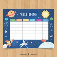 School Timetable Vectors Photos And Psd Files Free Download
