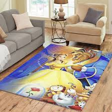 beauty and the beast princess belle rose area rug modern carpet floor mat