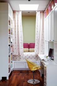 teenage girl room ideas with bed privacy curtains and study desk