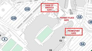 Gillette Stadium Seating Chart Revolution Matchday And Parking Information New England Revolution