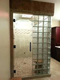 glass block shower kits home depot amazing of steam contemporary bathroom walk in designs full size