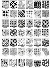 Zentangle Pattern Interesting printable zentangle patterns easy zentangle pattern sheet 48