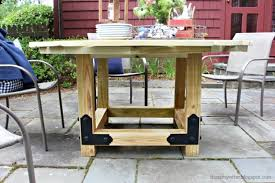 i built the round top with a 65 diameter simply because that size fit my patio best a 65 size fits seven chairs comfortably with plenty of elbow room