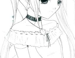 Coloring Pages For Girls To Print Anime Cat Girl Coloring Pages