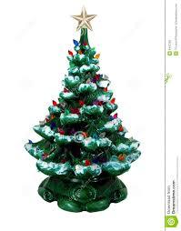 Ceramic Christmas Tree With Bird Lights Green Ceramic Christmas Tree Stock Photo Image Of Electric
