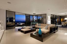 Modern Glass Wall Living Room