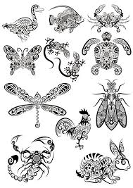 Ornament Animals Tribal Tattoo Designs Free Vector Cdr File Free