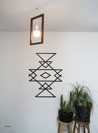 Masking tape  A 30 minutes wall art | Ohoh Blog - diy and crafts