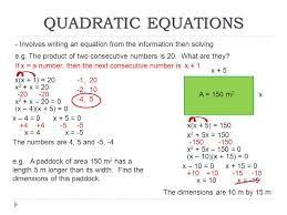 36 quadratic equations