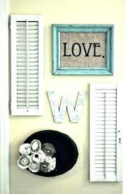 shutter wall decor shutter wall decor s door rustic wood shutters shutter wall decor with mirror