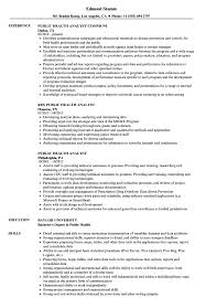 Public Health Resume Objective Examples Public Health Analyst Resume Samples Velvet Jobs 20