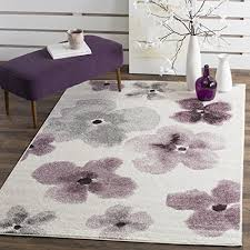 safavieh adirondack collection adr123l ivory and purple vintage fl area rug 51 x 76