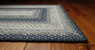 homee decor cotton braided rectangular blue area rug