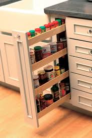 ... Small Spaces Offer Surprising Amount Of Pull Out Spice Rack Cabinet  Insert Design: ...