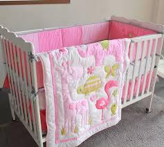 giol me num pink girl crib bedding 3d embroidery ba bedding set 4 with regard to elegant residence baby girl crib bedding sets pink decor