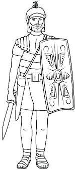 Roman Soldier Helmet Coloring Page Soldier Coloring Sheet Roman