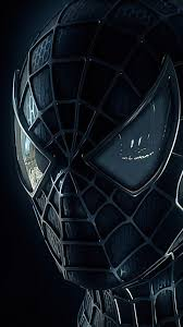 480x854 black spiderman mask android