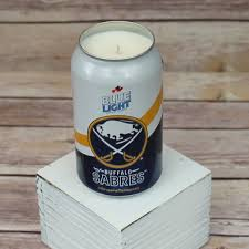 Labatt Blue Light Zubaz Soy Candle Labatt Blue Light 2015 Nhl Buffalo Sabres Can Soy Candle With Custom Scent Or Fragrance In 12 Oz Aluminium Can