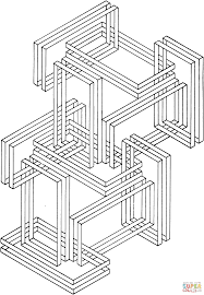 Small Picture Optical Illusion 24 coloring page Free Printable Coloring Pages
