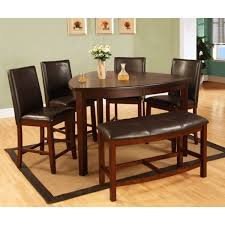 Shop Best Quality Furniture 6-piece Dark Cherry Counter Height Dining Table Set - Free Shipping Today Overstock.com 18177888