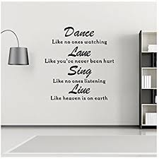 Wall Quotes Classy Amazon Wall Decals Quotes Dance Love Sing Live Vinyl Wall