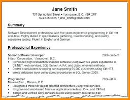 Job Summary Examples For Resumes Foodcity Me