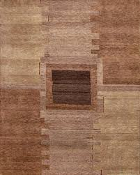 rugsville gabbeh modern brown wool rug 13211 13211