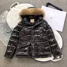 moncler detachable fur jacket in black for women designergu