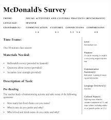Sample Questionnaire Format For Survey An Example Restaurant Survey Template Questionnaire Examples