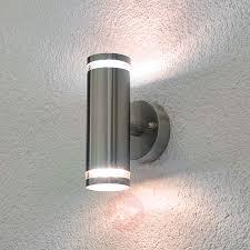 tiberus stainless steel led outdoor wall light