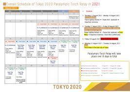 Tokyo 2020; Schedule Olympic en ...