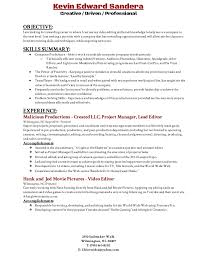 Resume Editor Cool Video Editing Resume