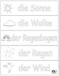 Worksheets German - Spring