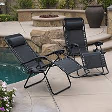 Amazon Belleze 2 Pack Zero Gravity Chairs Patio Lounge Cup