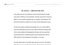 plastics friend or foe gcse science marked by teachers com document image preview