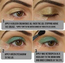 top green eye makeu brown eye makeup